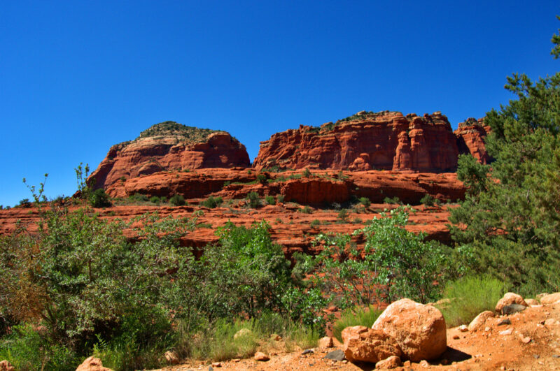 Red Rock Ridge - A sandstone structure in Sedona, Arizona.